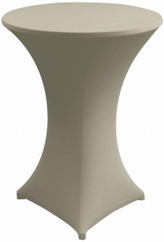 hussen husse in grau f r stehtisch 70 cm stil mietm bel geschirr und zeltverleih. Black Bedroom Furniture Sets. Home Design Ideas