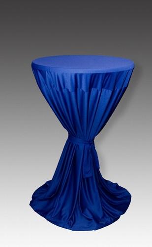 hussen berwurfhusse in marineblau f r stehtisch 70 80 cm stil mietm bel geschirr und. Black Bedroom Furniture Sets. Home Design Ideas