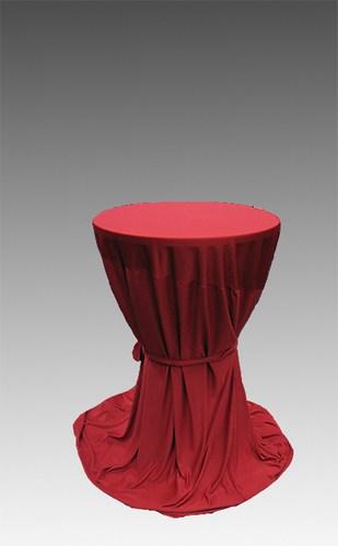 hussen berwurfhusse in rot f r stehtisch 70 80 cm stil mietm bel geschirr und zeltverleih. Black Bedroom Furniture Sets. Home Design Ideas